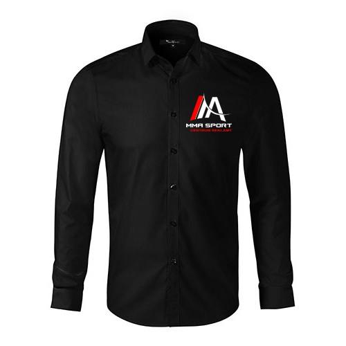 Koszula męska płócienna z haftem 105gm2 TWOJE LOGO  TD1nB